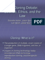 The Cloning Debate Science, Ethics, And the Law