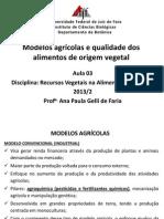 Aula Modelos Agrícolas e Qualidade Dos Alimentos I