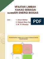 Pemanfaatan Limbah Kulit Kakao Sebagai Sumber Energi Biogas