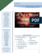 Newsletter - November 8, 2009