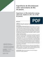 Experiencia de Discriminacion Entre Universitarios en Rio de Janeiro.