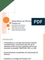 Assist+¬ncia no Processo do Trabalho.ppt
