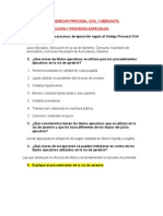 Cuestionario de Derecho Procesal Civil y Mercantil