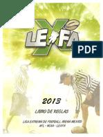 LEXFA  REGLAS 2013