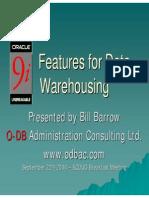 9 i for Data Warehousing