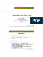 Designing a Dimensional Model