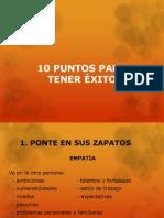 10 Puntos Para Tener Exito