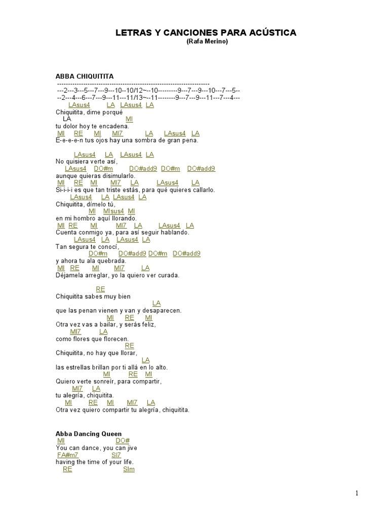 Canciones Y Letras Para Acustica Pdf Entretenimiento General Naturaleza