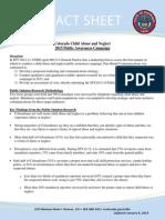public awareness fact sheet