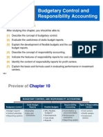 CH 5 Budgetary Control & Responsibility Accounting