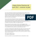 Actualizar o Migrar Active Directory de Windows Server 2012