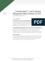 The Forrester Wave Lead to Revenue Management Platform Vendors Q1 2014