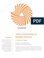 Grid Computing on Mobile Devices, A point of View by Altimetrik