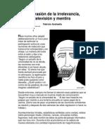 Andreella, Fabrizio - La Invasión de La Irrelevancia, Televisión y Mentira