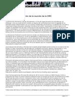 Evaluación reunión OMC