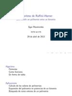 Algebra Algoritmo de Ruffini_Horner