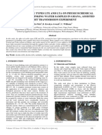 Effect of Zeolite Types Ltx and Lta on Physicochemical Parameters of Drinking Water Samples in Ghana, Assisted by Light Transmission Experiment