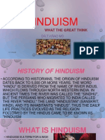 Hinduism what the Great think