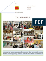 """The Glimpse"" MDP Foundation Annual Newsletter"