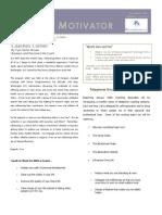 Monthly Motivator Vol I Issue 2 November 2007