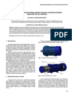 Air Flow Analysis for Electrical Motor's Cooling System With Autodesk