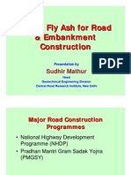 Use of Fly Ash for Road and Embankment Construction