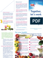 Dole Brochure Together Towards 5aDay