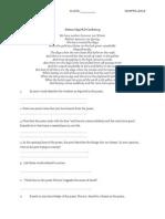 ENGLISH LITERATURE EXERCISE POEM F5