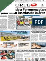 Periódico Norte de Ciudad Juárez edición impresa del 6 mayo de 2014