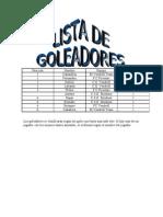 Lista de goleadores