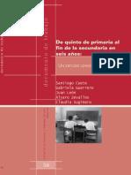 456. de Quinto de Primaria Al Fin de La Secundaria en Seis Años Un Estudio Longitudinal en Puno