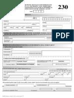 Asociatia Senzo - Formular 230