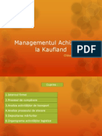 Managementul Achiziţiilor La Kaufland