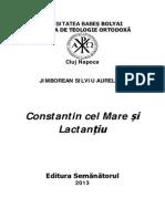 Silviu-Aurelian Jimborean-Constantin Cel Mare Si Lactantiu