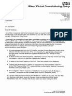 NHS CCG Final Report Enclosure Letter