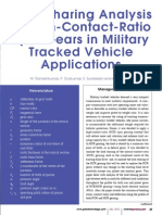Load Sharing Analysis of High-Contact-Ratio Spur Gears in Military Tracked Vehicle
