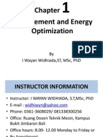 Management and Energy Optimization