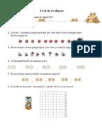 0teste de Evaluare Numeratia 0 100