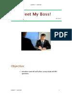 A2, Lesson 1-Meet My Boss