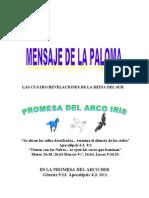 MENSAJE DE LA PALOMA  (promesa del arco iris)