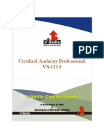 Audacity Certification