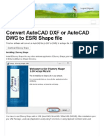 Convert AutoCAD DXF or AutoCAD DWG to ESRI Shape File