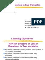 Linear Equation Dinesh Kumar