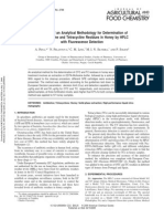 Validation of an Analytical Methodology for Determination
