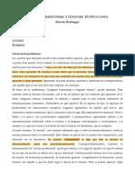 Lenguaje Tradicional y Lenguaje Técnico (Heidegger)