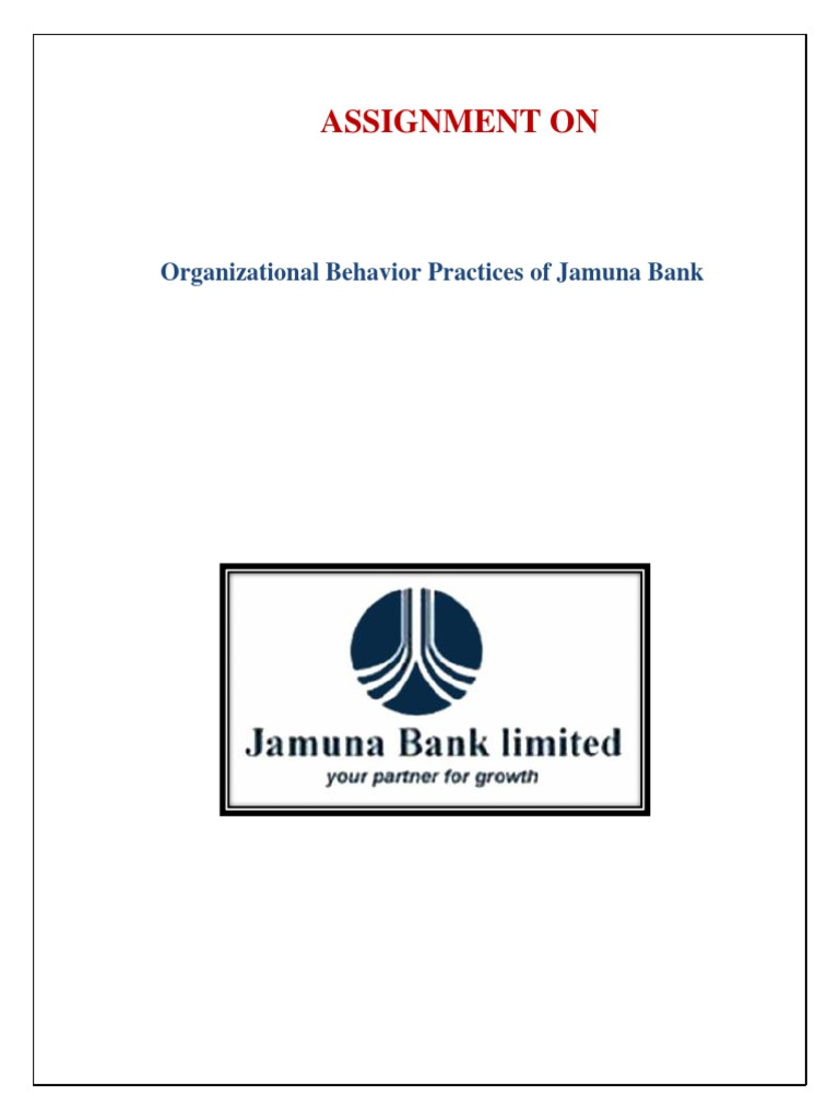 assignment on jamuna bank goal setting banks