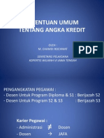 P Chamdi Ketentuan Umum Tentang Angka Kredit 2012