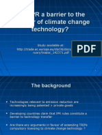 Are IPR a Barrier to the Transfer of Climate Change