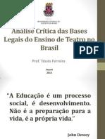 Análise Das Bases Legais Do Ensino de Teatro