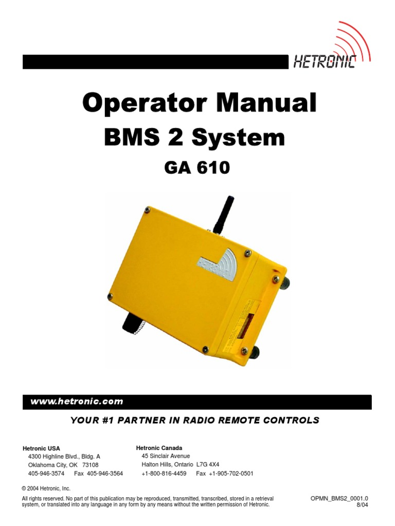 operator manual hectronic remote control electrical connector rh es scribd com